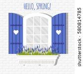 vector illustration with window ... | Shutterstock .eps vector #580814785