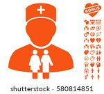 family doctor icon with bonus... | Shutterstock .eps vector #580814851