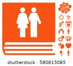 family album pictograph with... | Shutterstock .eps vector #580815085