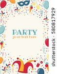 vertical template with confetti ... | Shutterstock .eps vector #580817929