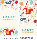 two vertical banners with... | Shutterstock .eps vector #580817959