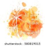 watercolored imitation... | Shutterstock .eps vector #580819015