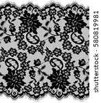 seamless black vector lace... | Shutterstock .eps vector #580819981