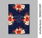 romantic wedding invitation... | Shutterstock .eps vector #580820389