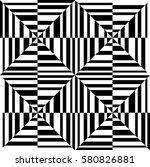 optical art geometric shape... | Shutterstock .eps vector #580826881