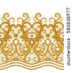 seamless pattern. golden... | Shutterstock . vector #580838977