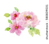 painted watercolor composition... | Shutterstock . vector #580839031