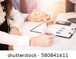 close up of businesspeople... | Shutterstock . vector #580841611