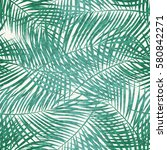 Palm Leaf  Seamless Pattern...