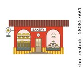 baking red shop cartoon icon in ...