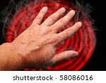 hand burned on a stove | Shutterstock . vector #58086016