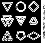 set of impossible shapes....   Shutterstock .eps vector #580862197