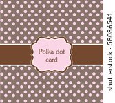 Polka Dot Design Pink Frame