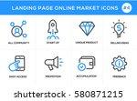 flat line design concept icons... | Shutterstock .eps vector #580871215