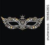 beautiful vintage venetian... | Shutterstock .eps vector #580882801