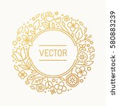 Vector Vintage Frame In Trendy...