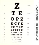 eye c hart | Shutterstock . vector #580886914