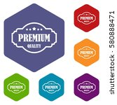 premium quality label icons set ... | Shutterstock . vector #580888471