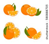 the icon is orange. set with... | Shutterstock .eps vector #580888705