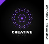 clever and creative  dots or... | Shutterstock .eps vector #580890235