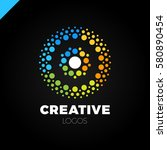 clever and creative  dots or... | Shutterstock .eps vector #580890454
