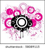 abstract circles | Shutterstock .eps vector #58089115
