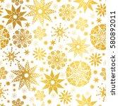 vector golden abstract doodle...   Shutterstock .eps vector #580892011