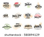 sketch italian food logotypes... | Shutterstock .eps vector #580894129