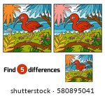 find differences education game ... | Shutterstock .eps vector #580895041
