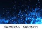 abstract connected dots.... | Shutterstock . vector #580895194