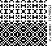 vector seamless pattern.... | Shutterstock .eps vector #580905025