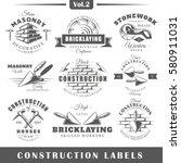 set of vintage construction... | Shutterstock .eps vector #580911031
