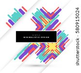 memphis geometric background... | Shutterstock .eps vector #580915024