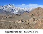 stock photo   alabama hills ... | Shutterstock . vector #58091644