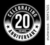 20 years anniversary logo.... | Shutterstock .eps vector #580917631