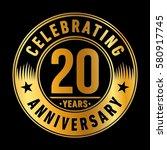 20 years anniversary logo.... | Shutterstock .eps vector #580917745