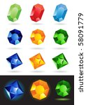 colorful vector illustration of ... | Shutterstock .eps vector #58091779
