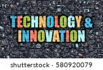 technology and innovation... | Shutterstock . vector #580920079