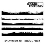 set of grunge and ink stroke... | Shutterstock .eps vector #580927885