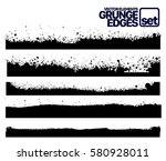set of grunge and ink stroke... | Shutterstock .eps vector #580928011
