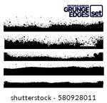 set of grunge and ink stroke... | Shutterstock .eps vector #580928011