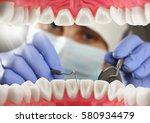 dentist checkup teeth  inside... | Shutterstock . vector #580934479