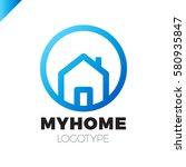 template logo for real estate... | Shutterstock .eps vector #580935847