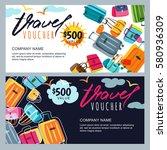 Vector Gift Travel Voucher...