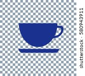 cup icon on transparent... | Shutterstock .eps vector #580943911