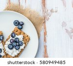 healthy snack from wholegrain... | Shutterstock . vector #580949485