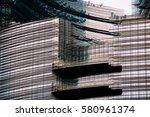 facade of a modern building   Shutterstock . vector #580961374