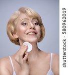 beautiful matured woman...   Shutterstock . vector #580962019