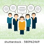 business people and speech... | Shutterstock .eps vector #580962469