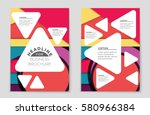 abstract vector layout... | Shutterstock .eps vector #580966384